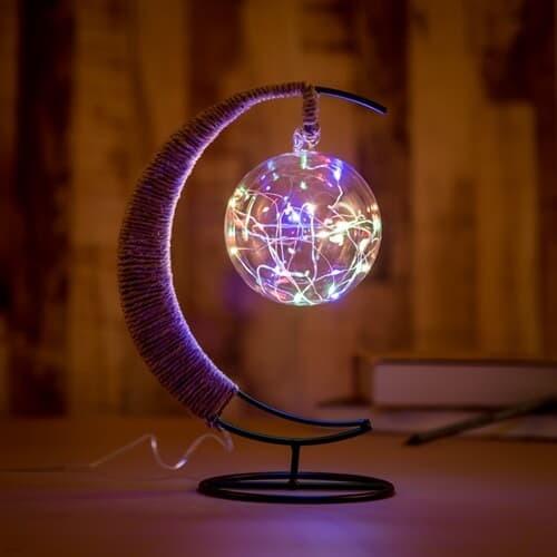 초승달 플라즈마 LED 무드등 USB 생일선물 테이블조명