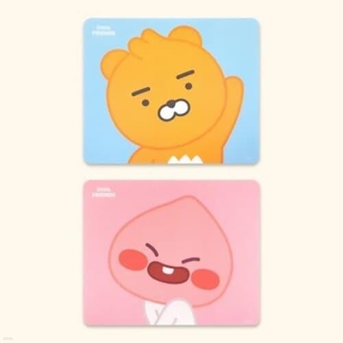라이언 어피치 마우스패드 정품2종 [귀여운 캐릭터 카카오프렌즈 휴대용 소형 미니마우스패드]