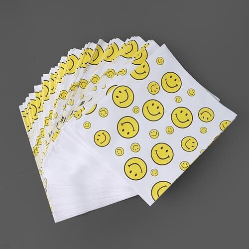 스마일 패턴 페이퍼백 90p세트 선물 포장 답례품 봉투