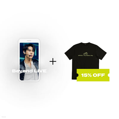 Beyond LIVE 관람권 + T-SHIRT Beyond LIVE - NCT 127 ONLINE FANMEETING 'OFFICE : Foundation Day'