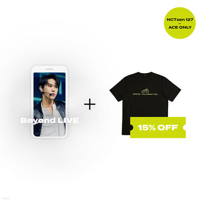 [NCTzen 127 ACE ONLY] Beyond LIVE 관람권 + T-SHIRT Beyond LIVE - NCT 127 ONLINE FANMEETING 'OFFICE : Foundation Day'
