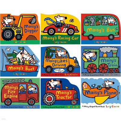 메이지 탈것 모양 그림책 보드북 원서 9종 세트 Maisy Shaped Transport Board Book