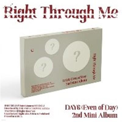 [미개봉] 데이식스 유닛 (Even of Day) / Right Through Me (2nd Mini Alubm)