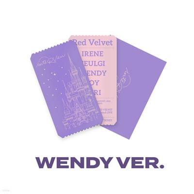 [WENDY] SPECIAL AR TICKET SET Beyond LIVE - Red Velvet Online Fanmeeting - inteRView vol.7 : Queendom