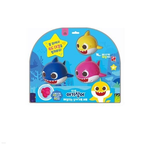 [피노키오]핑크퐁/아기상어헤엄치는상어가족세트