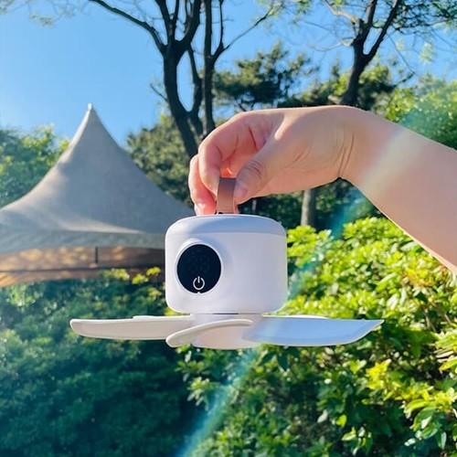 단풍나무 LED 무드등 타프팬 캠핑용 공기순환 8000mAh