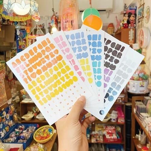 [수바코] 알파벳 숫자 스티커 6종 세트 다꾸 스티커팩 리무버블 탑꾸 씰 폴꾸 다이어리꾸미기 인스 Sticker