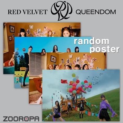 [새상품/1포스터] 레드벨벳 Red Velvet 6집 Queendom (브로마이드1장+지관통)