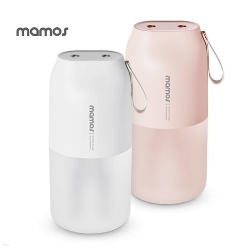 [마모스] 듀얼 미니 가습기 MHC-300V /USB 충전식 초음파 휴대용 사무실 탁상용 소형 무드등