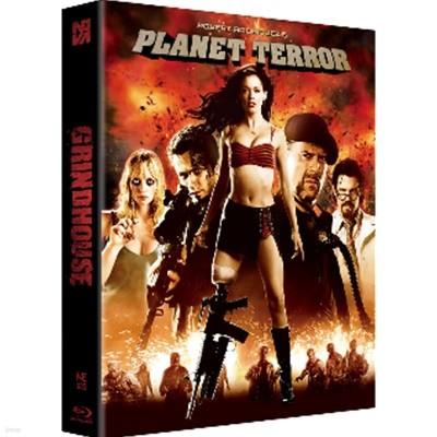 Blu-ray 그라인드 하우스 (데쓰 프루프 + 플래닛 테러) (2Disc, 한정판 스틸북 렌티큘러 풀슬립B - 플래닛 테러 버전) : 블루레이