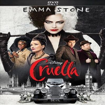 Cruella (크루엘라) (2021)(지역코드1)(한글무자막)(DVD)