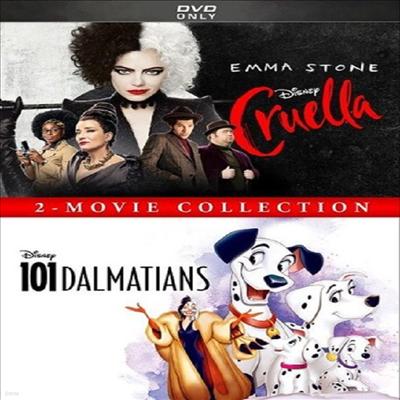 Cruella (2021) / 101 Dalmatians (Animated): 2-Movie Collection (크루엘라 / 101 달마시안)(지역코드1)(한글무자막)(DVD)