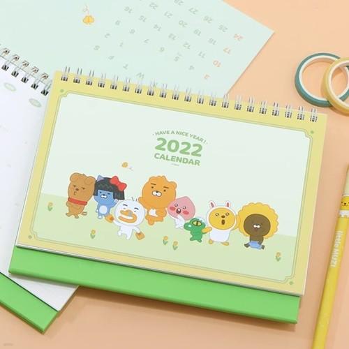 카카오프렌즈 2022 스몰 탁상 캘린더-옐로우그린