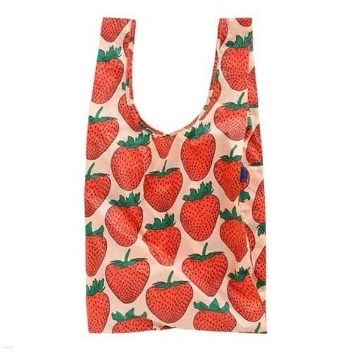 [바쿠백] 대형 빅사이즈 에코백 장바구니 Strawberry