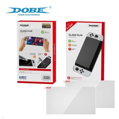DOBE 스위치 OLED 강화유리 액정필름 (2매입) / 닌텐도스위치 올레드 전용