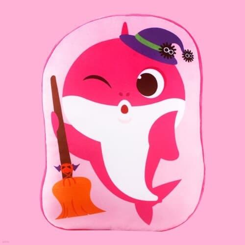 핑크퐁 아기상어 할로윈 라인프린트쿠션-엄마상어