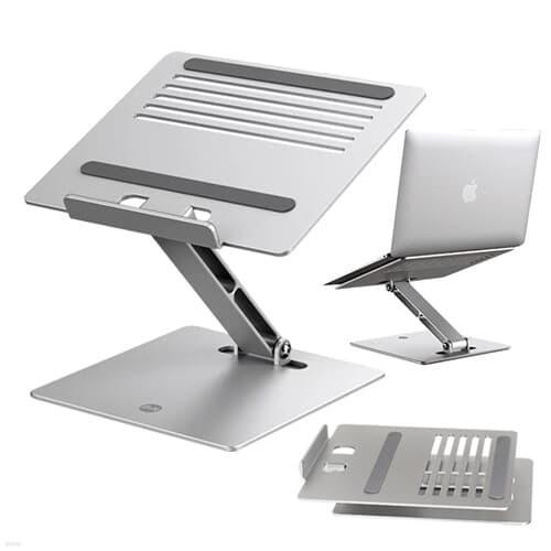 OMT 접이식 알루미늄 각도조절 노트북거치대 미끄럼방지 휴대용 태블릿 거치대 독서대