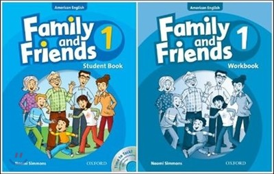American Family and Friends 1 SET : Student Book with Time to Talk CD + Workbook