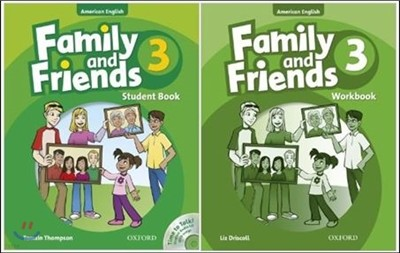 American Family and Friends 3 SET : Student Book with Time to Talk CD + Workbook