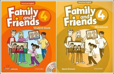 American Family and Friends 4 SET : Student Book with Time to Talk CD + Workbook