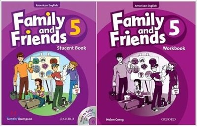 American Family and Friends 5 SET : Student Book with Time to Talk CD + Workbook
