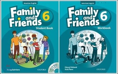 American Family and Friends 6 SET : Student Book with Time to Talk CD + Workbook