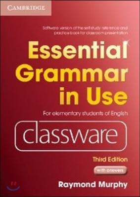 [염가한정판매] Essential Grammar in Use Elementary Level Classware DVD-ROM with Answers