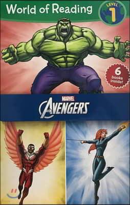 월드 오브 리딩 6종 세트 레벨 1 : 마블 어벤져스 : World of Reading Level 1 Set : Avengers