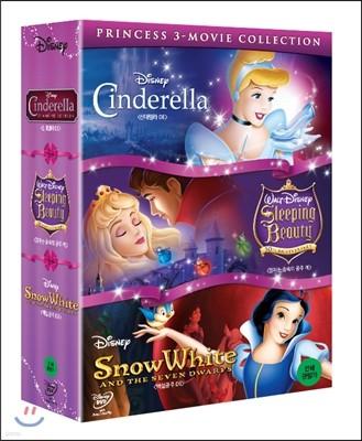디즈니 공주 명작 박스 세트 (신데렐라, 잠자는 숲속의 공주, 백설공주)