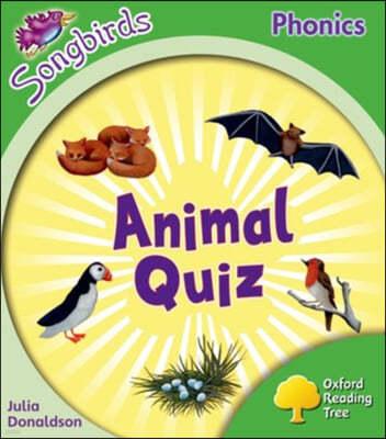Oxford Reading Tree: Level 2: More Songbirds Phonics: Animal Quiz