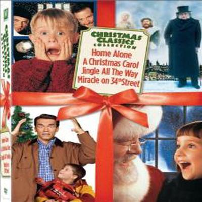 Christmas Classics Box Set (Miracle on 34th Street / Jingle All the Way / Home Alone / A Christmas Carol) (크리스마스 클래식 박스셋)(지역코드1)(한글무자막)(DVD)