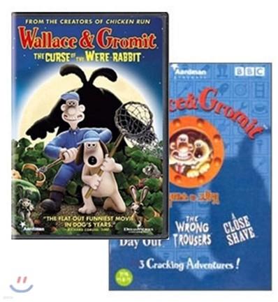 월레스와 그로밋 베스트 + 월레스와 그로밋2 :거대 토끼의 저주(+칼라점토세트+어린이잉글리쉬북)