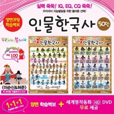 누가누가 잘하나 양면학습벽보 - 인물 한국사 50인