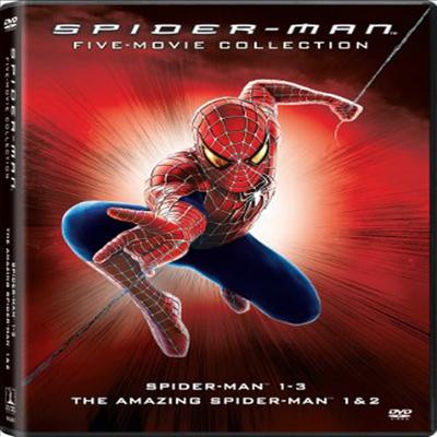 Spider-Man Five Movie Collection: The Amazing Spider-Man 1 / The Amazing Spider-Man 2 / Spider-Man (2002) / Spider-Man 2 (2004) / Spider-Man 3 (2007) (스파이더맨: 5 무비 컬렉션)(지역코드1)(한글무자막)