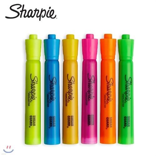 [알앤비]Sharpie 샤피 엑센트 형광펜 / 탱크식 대용량/6색세트