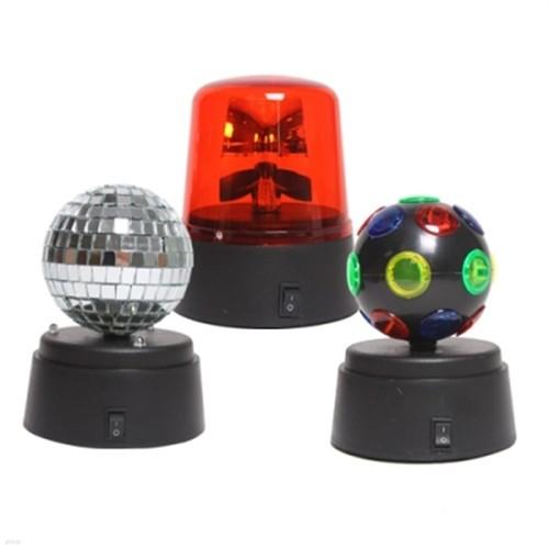 미니 미러볼 3종 파티조명 세트(USB,건전지 겸용)