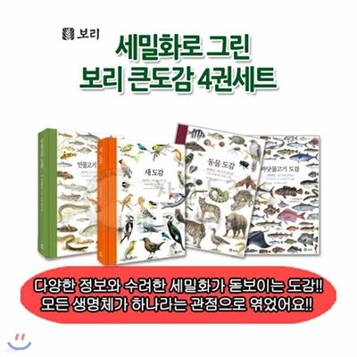 [백화점상품권10,000원증정]세밀화로 그린 보리 큰도감 4권세트