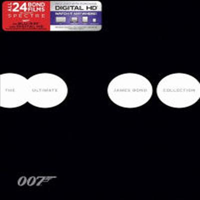 The Ultimate James Bond Collection: Including 007 Spectre (디 얼티밋 제임스 본드 컬렉션) (한글무자막)(24Blu-ray + Digital HD)(Boxset)