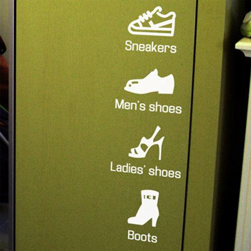 [상상날개] 그래픽 스티커 / Life sticker - 신발장 시리즈 (화이트)/인테리어,데코