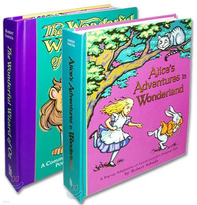 로버트 사부다 팝업북 베스트 2종 : The Wonderful Wizard of Oz + Alice's Adventures in Wonderland