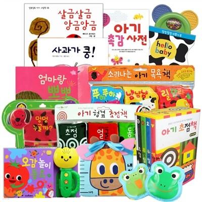 [기획상품] 책이랑 놀자 BABY Premium+ 12종세트 (초점책,헝겊책,목욕책,사운드북, 아가 추천 그림책 구성)