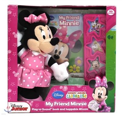 [스크래치 특가] Book & Plush : My Friend Minnie 디즈니 미니 마우스 인형 + 사운드북
