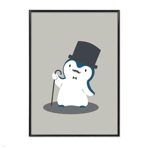 키즈액자 - 14 Gentlemanly penguin