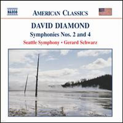 다이아몬드: 교향곡 2, 4번 (Diamond: Symphony No.2 & 4)(CD) - Gerard Schwarz
