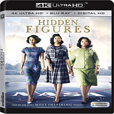 Hidden Figures (히든 피겨스) (2016) (한글무자막)(4K Ultra HD + Blu-ray + Digital HD)