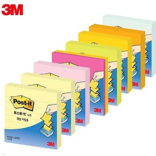 [알앤비]3M 포스트잇 팝업 리필 KR-330 견출지/접착메모지/사무용품