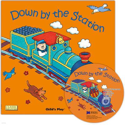 [노부영 마더구스 세이펜] Down by the Station (원서 & 노부영 부록 CD)