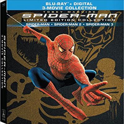 Spider-Man: Trilogy Limited Edition Collection (스파이더맨 3부작) (한글무자막)(4Blu-ray + Digital)