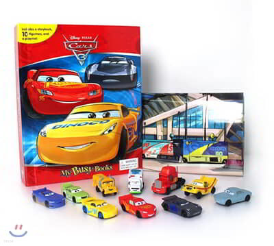 Disney Cars 3 My Busy Book 디즈니 픽사 카3 비지북 (피규어 10개)