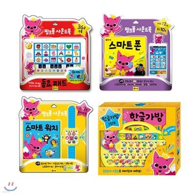 핑크퐁 사운드북 4종 (동요패드/스마트폰/스마트워치/한글가방)